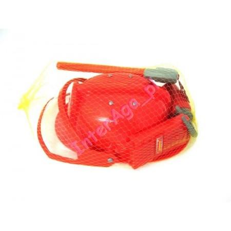 Kask strażaka z akcesoriami