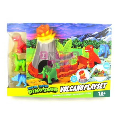 Wulkan + dinozaury