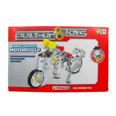 Klocki metalowe Motocykl 151el.
