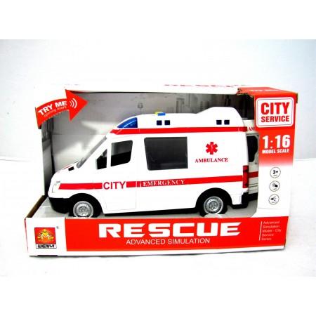 Auto ambulans z dźwiękiem plastik