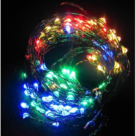 Lampki choinkowe łezki kolorowe wiszące