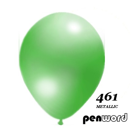 """Balon metalik 10"""" zielony 100szt."""