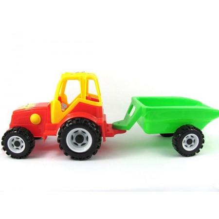 Traktor farma z przyczepą