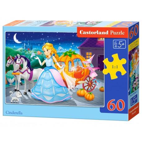 Puzzle 60 el. Cinderella - Kopciuszek