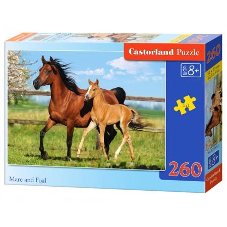 Puzzle 260 el. Mare and Foal - Klacz i źrebię