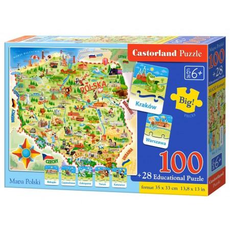 Puzzle edukacyjne 100 el. - Mapa Polski