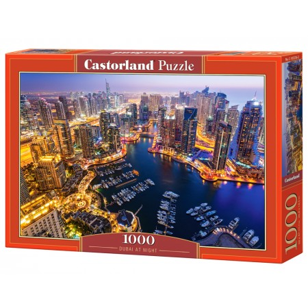 Puzzle 1000 el. Dubai at Night - Dubaj nocą