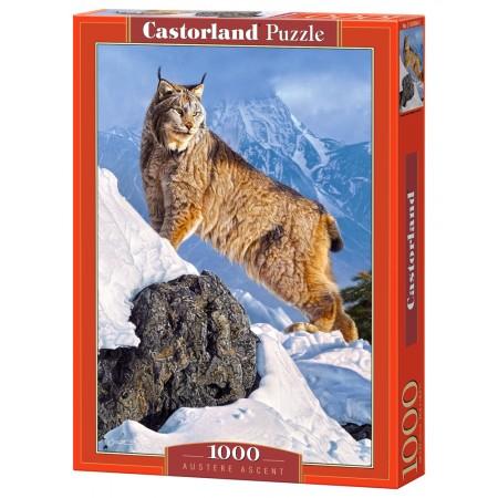 Puzzle 1000 el. Austere Ascent - Ryś w górach