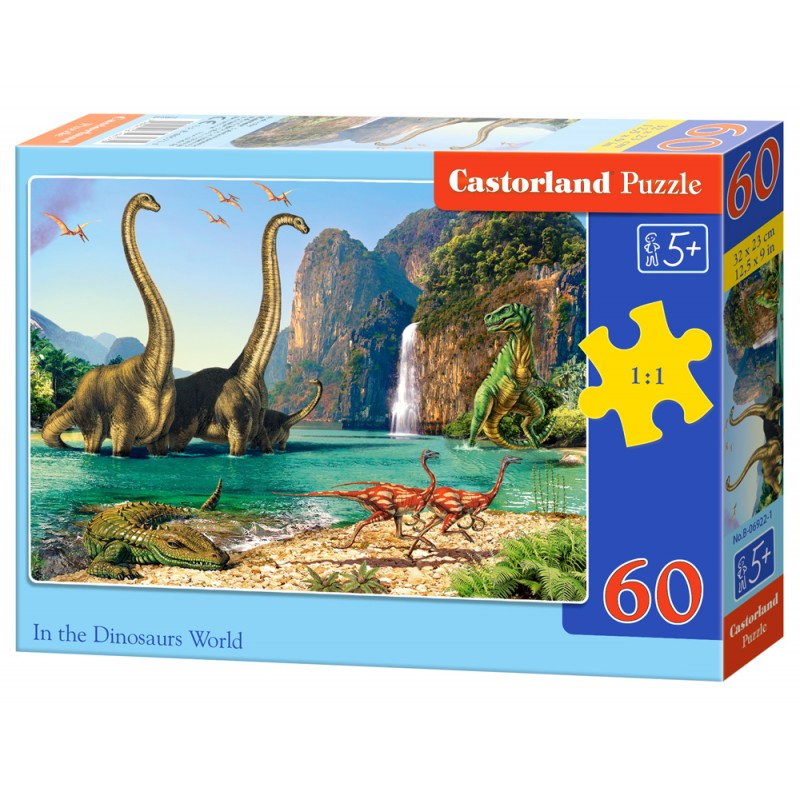 Puzzle 60 el. In the Dinosaurs World - W świecie dinozaurów