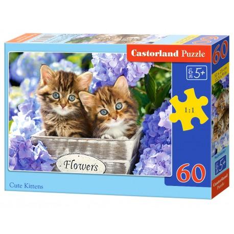 Puzzle 60 el. Cute Kittens - Urocze kotki