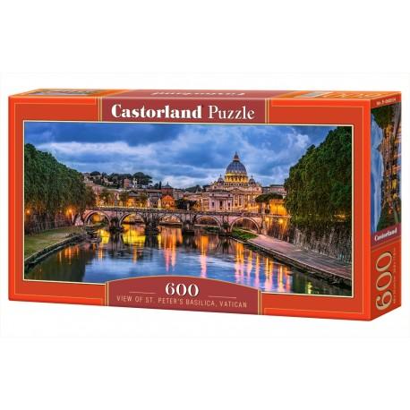 Puzzle 600 el. View od St. Peters Basilica, Vatican