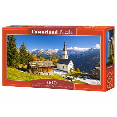 Puzzle 600 el. Church Martele, Carinthia, Austria