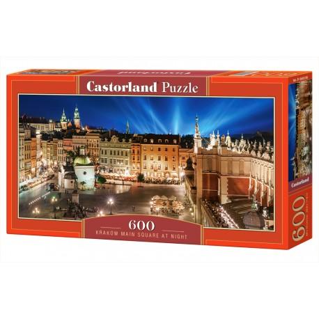 Puzzle 600 el. Krakow Main Squere at Night