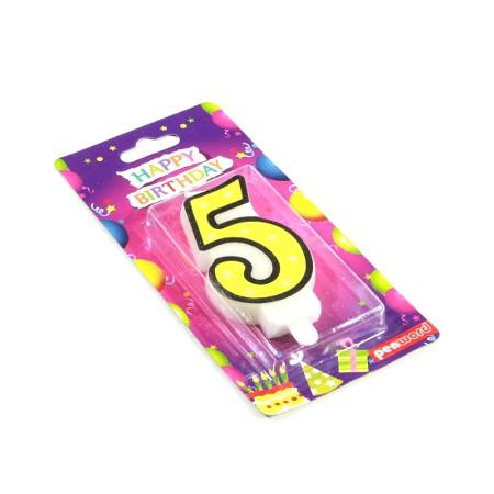 Świeczka urodzinowa cyfra 5