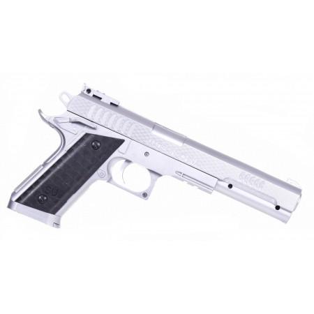 Imitacja broni - srebrny pistolet
