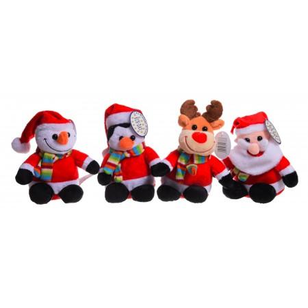 Zwierzęta święteczne pingwin, bałwan, mikołaj, renifer