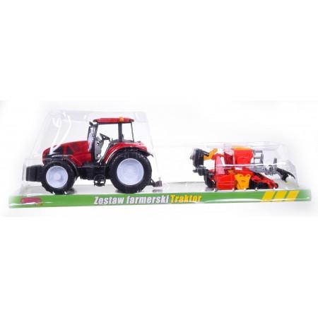 Traktor z maszyną
