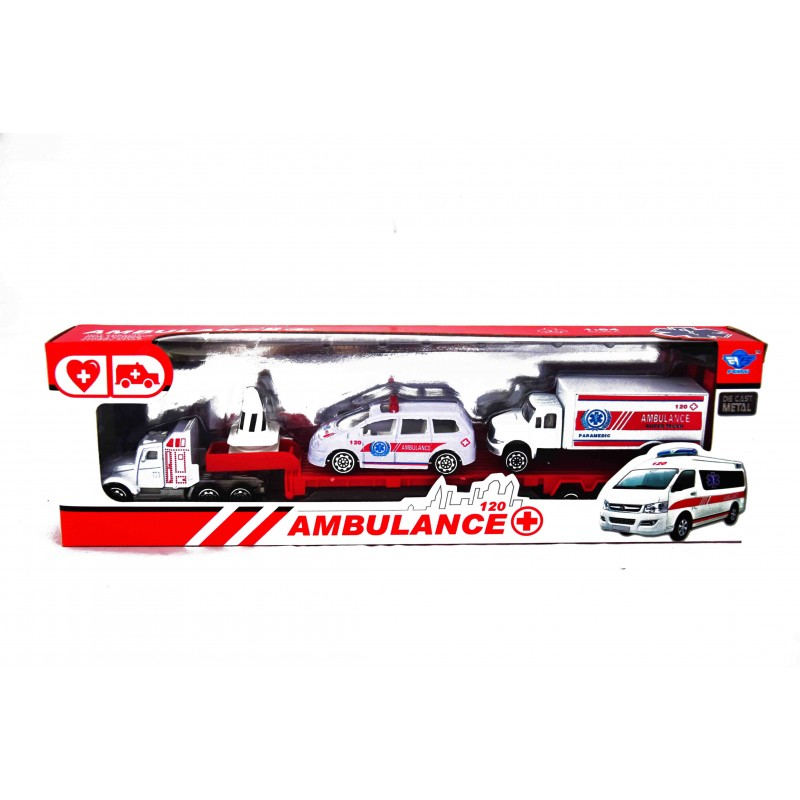 Truck + 2 pojazdy pogotowie ambulans