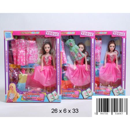 Lalka z sukienkami
