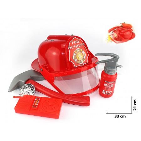 Zestaw strażacki z kaskiem