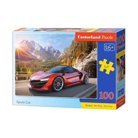 Puzzle 100 el. Sports Car - Czerwone auto sportowe