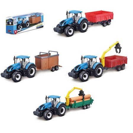 Bburago Traktor z przyczepą