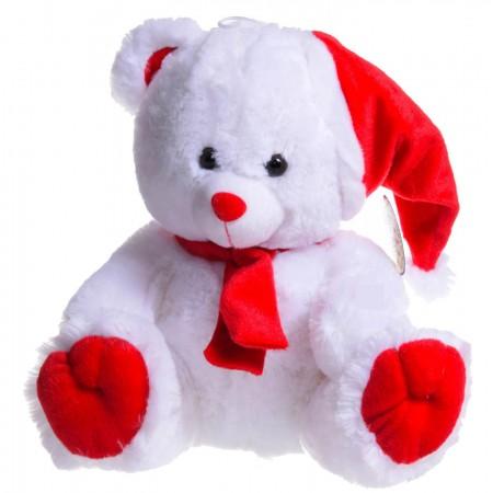 Świąteczny miś w czapce Mikołaja