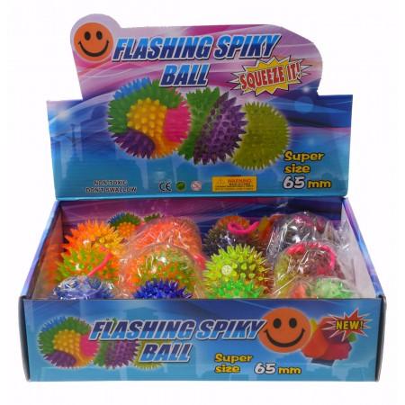 Piłka na gumce ze światłem