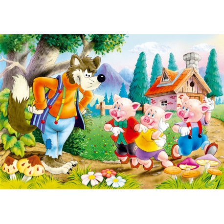 Puzzle 60 el. Three little pigs - Trzy świnki