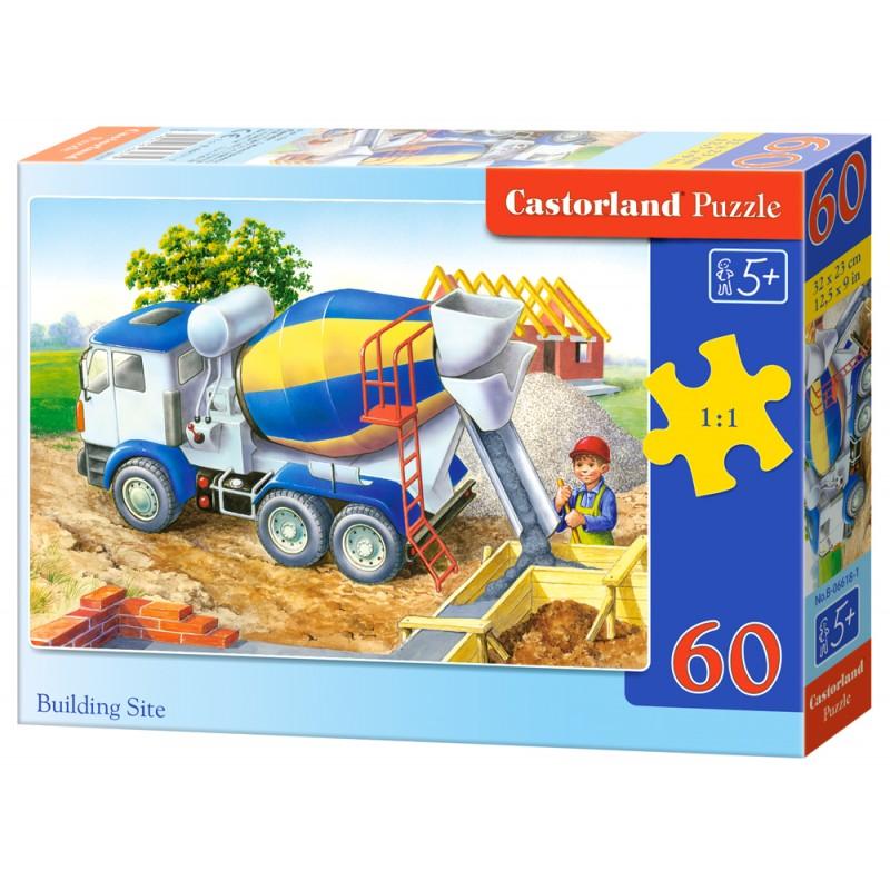 Puzzle 60 el. Building Site - Betoniarka