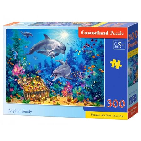 Puzzle 300 el. Dolphin Family - Rodzina delfinów