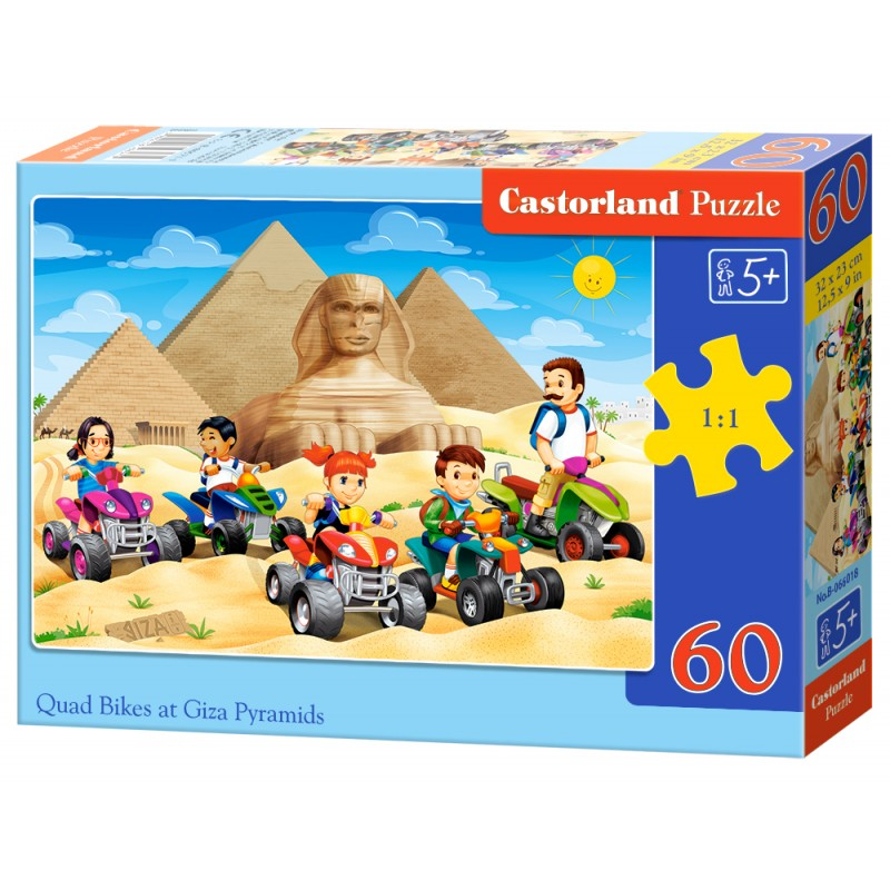 Puzzle 60 el. Quad Bikes at Giza Pyramids - Quady pod piramidami