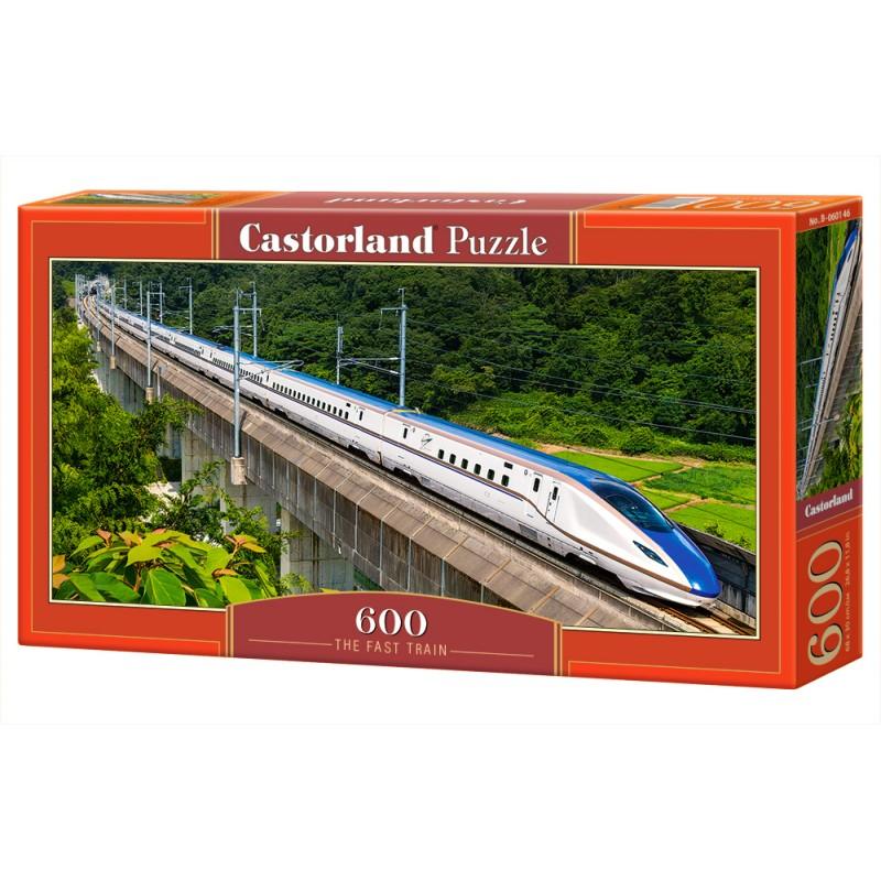Puzzle 600 el. The fast train - Szybki pociąg