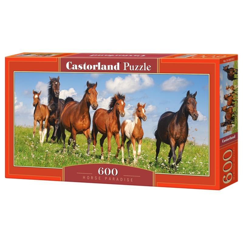 Puzzle 600 el. Horse Paradise - Koński Raj