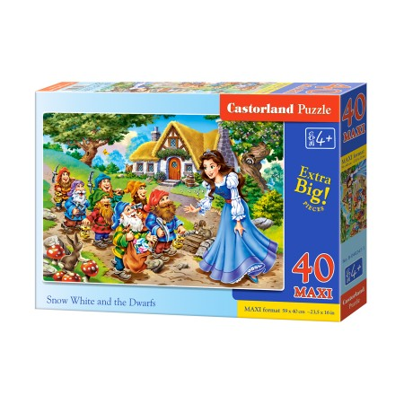 Puzzle 40 elementów MAXI Snow White and the seven Dwarfs