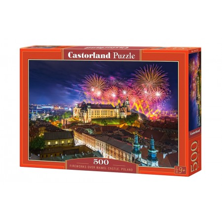 Puzzle 500 el. Fireworks over Wawel Castlle - Fajerwerki nad Wawelem