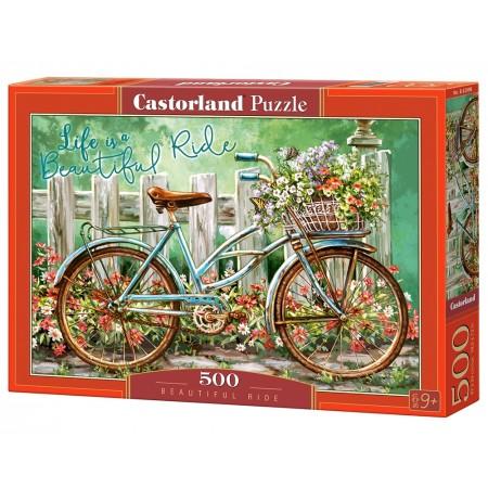 Puzzle 500 el. Beautiful Ride - Rower na tle płotu