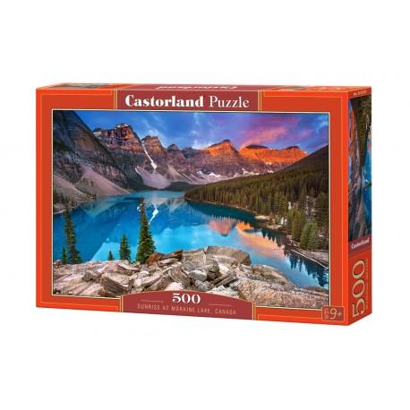 Puzzle 500 el. Sunrise at Moraine Lake. Canada - Zachód na djeziorem Moraine