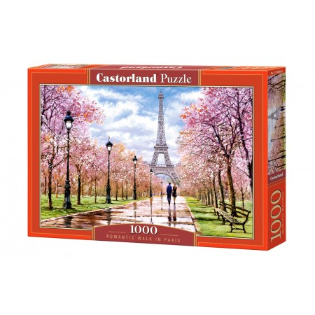 Puzzle 1000 el. Romantic Walk in Paris - Romantyczny spacer po Paryżu