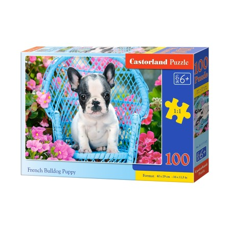 Puzzle 100 el. French bulldog puppy