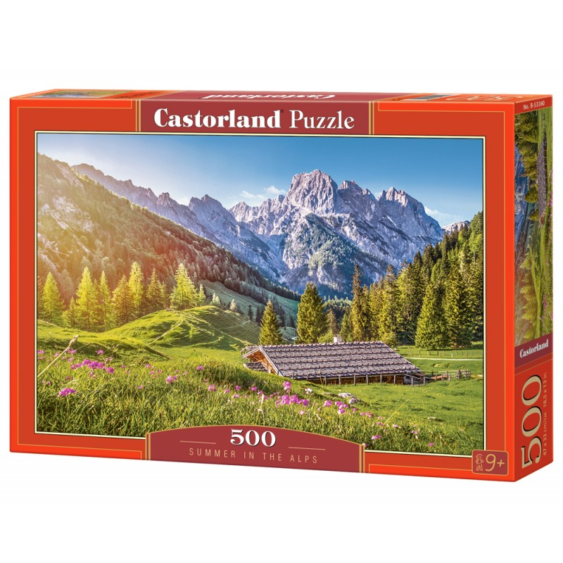 Puzzle 500 el. Summer in the Alps - Lato w Alpach
