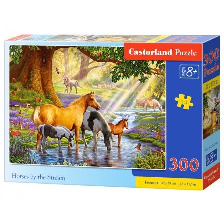 Puzzle 300 el. Horses by the Steam - Konie nad strumieniem