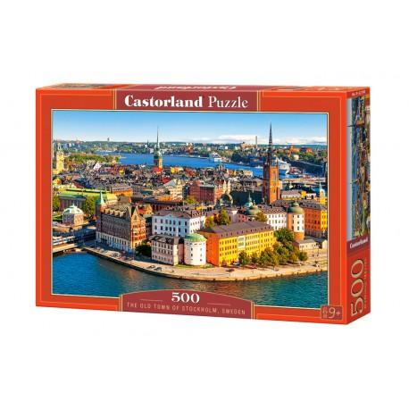 Puzzle 500 el. The Old Town of Stockholm, Sweden - Stare miasto w Sztokholmie, Szwecja