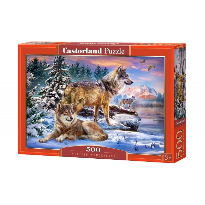 Puzzle 500 el. Wolfish Wonderland - Wilcza kraina czarów