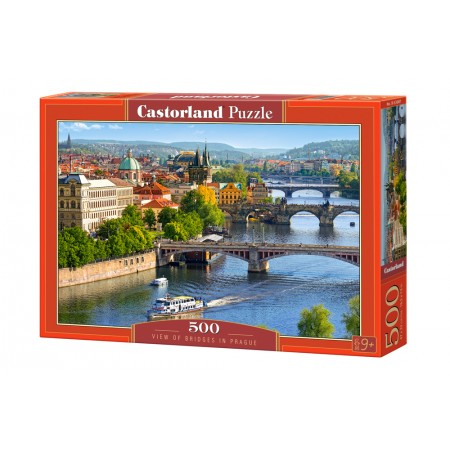 Puzzle 500 el. View of Bridges in Prague - Widok na mosty w Pradze