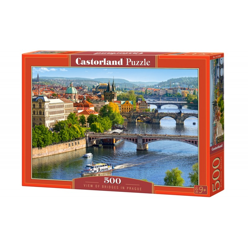 Puzzle 500 el. View of Bridges in Prague - Widok na mosty w Pradze