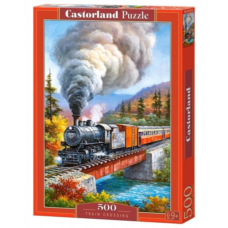 Puzzle 500 el. Train Crossing - Jadący pociąg