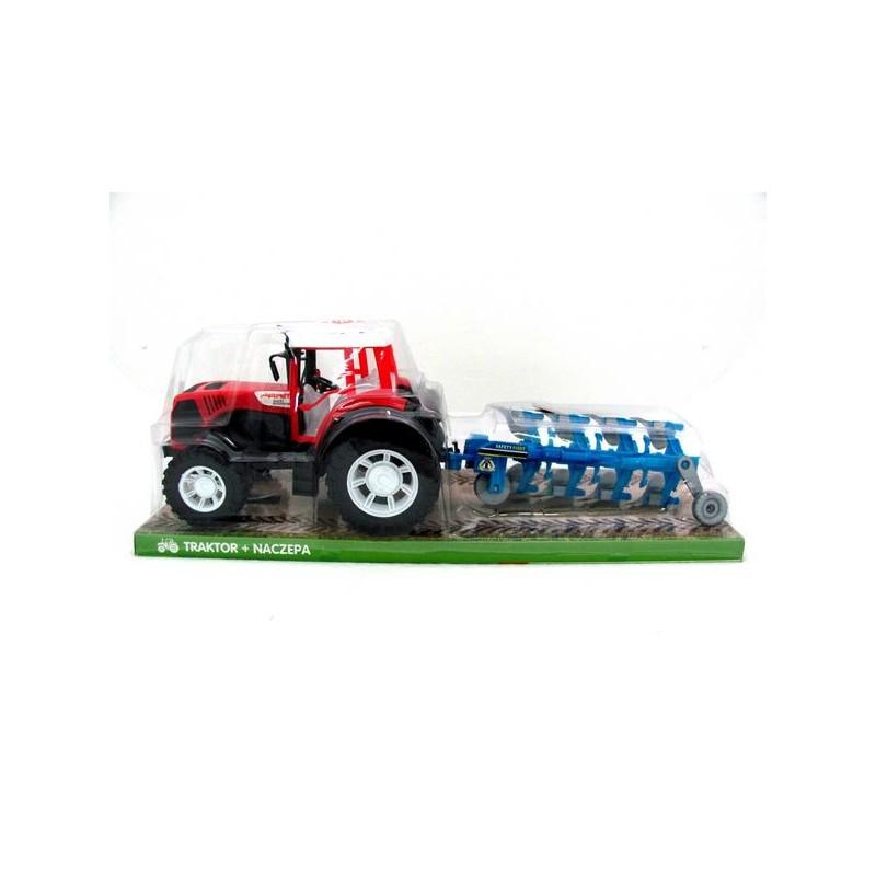Traktor z maszyną rolniczą dźwięk plastik