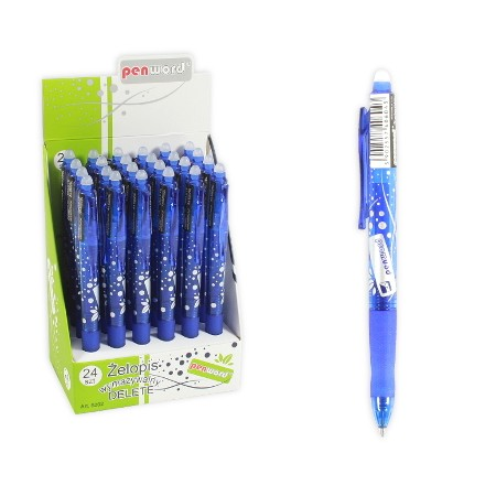 Długopis żelowy z gumką