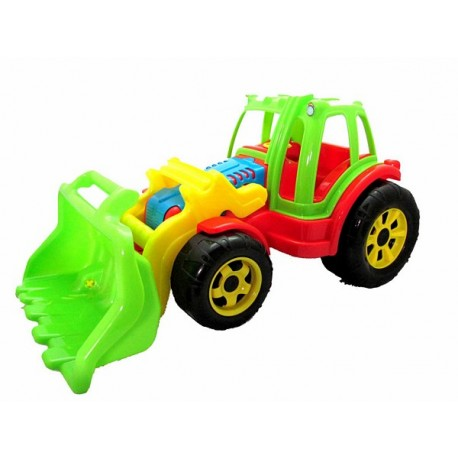 Traktor z łyżką do piachu